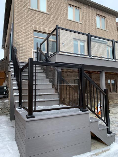 glass balcony railings canada