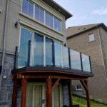 frameless glass balcony railings canada