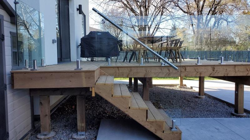 spigot glass balcony railings canada