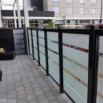 privacy glass railings canada