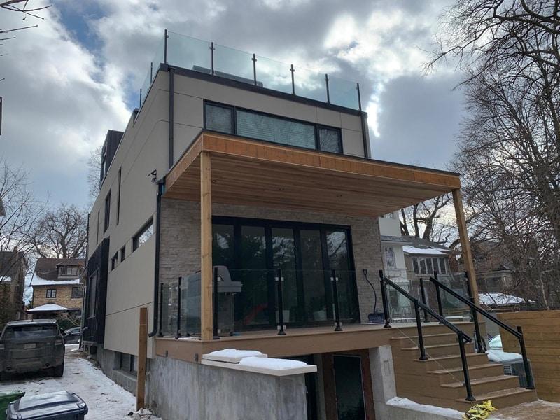 frameless glass balcony railings