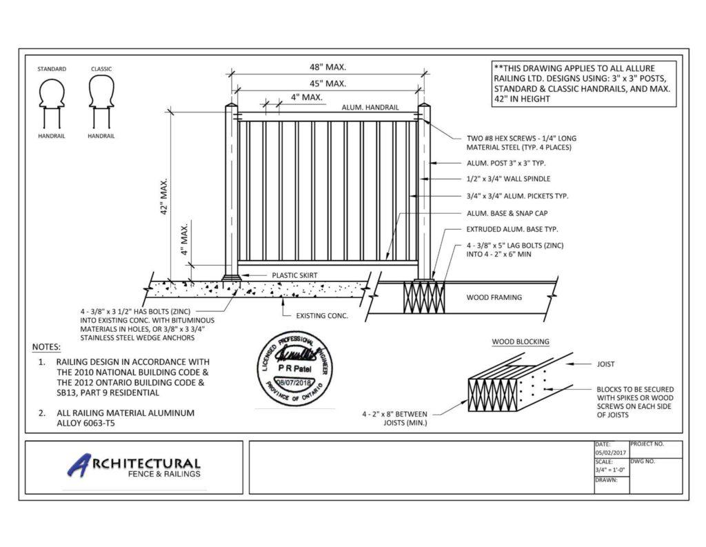buy picket railings canada
