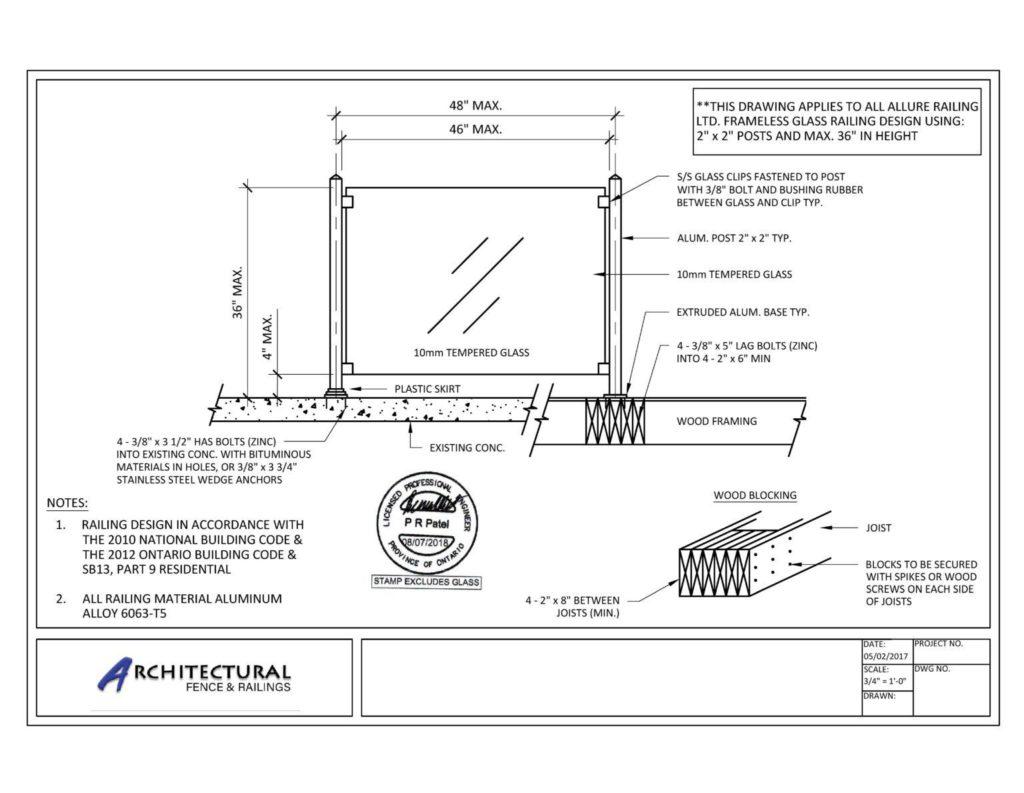 buy frameless glass railings toronto